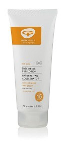 Bild på Green People Edelweiss Sun Lotion SPF 15 Natural Tan Accelerator