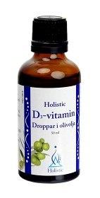 Bild på Holistic D3-vitamindroppar i olivolja 50 ml