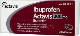 Bild på Ibuprofen Actavis, filmdragerad tablett 200 mg 30 st