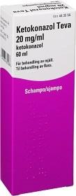 Bild på Ketokonazol Teva, schampo 20 mg/ml 60 ml
