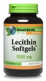 Bild på Great Earth Lecithin Softgels 1200 mg 90 kapslar