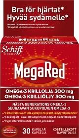 Bild på MegaRed Krillolja 300 mg 30 kapslar