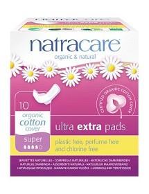 Bild på Natracare Binda Ultra Extra Super med vingar 10 st