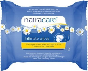 Bild på Natracare Intimate Wipes 12 st