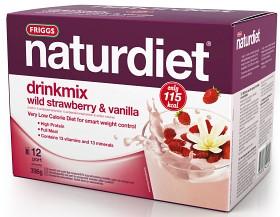Bild på Naturdiet Drinkmix Smultron & Vanilj 12 portioner