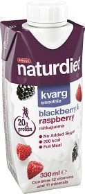 Bild på Naturdiet Kvargsmoothie Blackberry Raspberry 330 ml