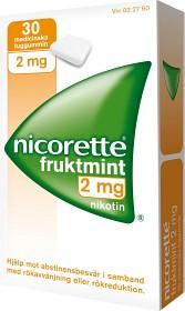 Bild på Nicorette Fruktmint, medicinskt tuggummi 2 mg 30 st