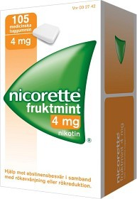 Bild på Nicorette Fruktmint, medicinskt tuggummi 4 mg 105 st