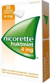 Bild på Nicorette Fruktmint, medicinskt tuggummi 4 mg 30 st