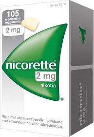 Bild på Nicorette, medicinskt tuggummi 2 mg 105 st