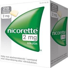 Bild på Nicorette, medicinskt tuggummi 2 mg 210 st
