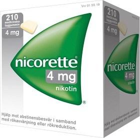 Bild på Nicorette, medicinskt tuggummi 4 mg 210 st