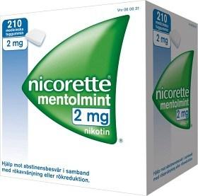 Bild på Nicorette Mentolmint, medicinskt tuggummi 2 mg 210 st
