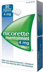 Bild på Nicorette Mentolmint, medicinskt tuggummi 4 mg 30 st