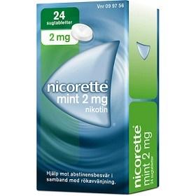 Bild på Nicorette Mint, komprimerad sugtablett 2 mg 24 st