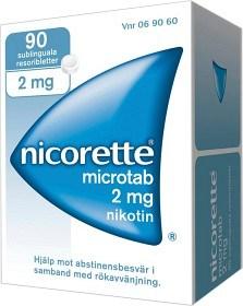 Bild på Nicorette Microtab, resoriblett, sublingual 2 mg 90 st
