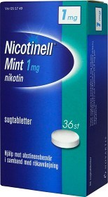 Bild på Nicotinell Mint komprimerad sugtablett 1 mg 36 st