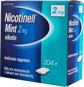 Bild på Nicotinell Mint, medicinskt tuggummi 2 mg 204 st