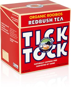 Bild på Tick Tock Organic Rooibos Redbush Tea 40 tepåsar