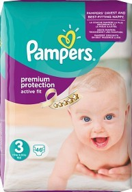 Bild på Pampers Active Fit S3 4-9 kg 46 st