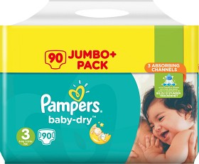 Bild på Pampers Baby-Dry S3 5-9kg 90 st