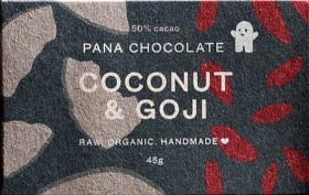 Bild på Pana Raw Chocolate Coconut & Goji 45 g