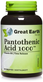 Bild på Great Earth Pantothenic Acid 1000 mg 90 tabletter
