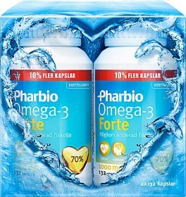 Bild på Pharbio Omega-3 Forte 2 x 132 kapslar