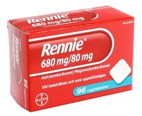 Bild på Rennie, tuggtablett 680 mg/80 mg 96 st