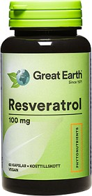 Bild på Great Earth Resveratrol 100 mg 60 kapslar