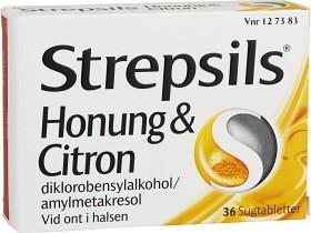 Bild på Strepsils Honung & Citron, sugtablett 36 st