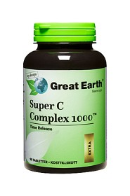 Bild på Great Earth Super C Complex 1000 mg 90 tabletter