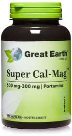 Bild på Great Earth Super Cal-Mag 600/300 mg 120 kapslar