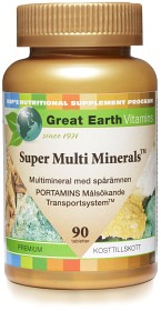 Bild på Great Earth Super Multi Minerals 90 tabletter
