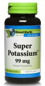 Bild på Great Earth Super Potassium 100 tabletter