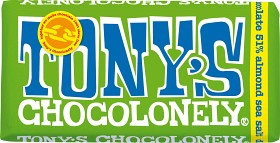 Bild på Tony's Chocolonely Dark Chocolate Almond Seasalt 180 g