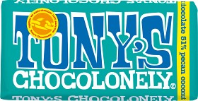 Bild på Tony's Chocolonely Dark Chocolate Pecan Coconut 180 g