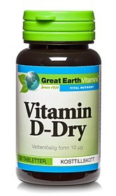 Bild på Great Earth Vitamin D-Dry 400 90 tabletter