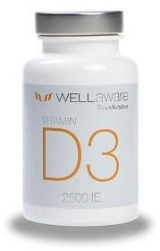Bild på WellAware Vitamin D3 2500 IE 120 tabletter