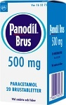 Panodil Brus, brustablett 500 mg 20 st
