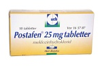 Postafen, tablett 25 mg 10 st