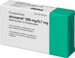 Alcosanal, suppositorium 200 mg 10 st