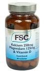 FSC Kalcium 250 mg Magnesium 125 mg & Vitamin D 60 tabletter