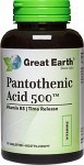 Great Earth Pantothenic Acid 500