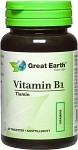 Great Earth Vitamin B1, 60 kapslar