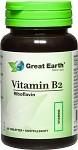 Great Earth Vitamin B2, 60 kapslar
