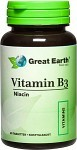 Great Earth Vitamin B3, 60 tabletter