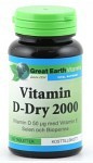 Great Earth Vitamin D-Dry 2000 150 tabletter