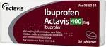 Ibuprofen Actavis, filmdragerad tablett 400 mg 30 st
