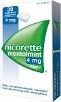 Nicorette Mentolmint, medicinskt tuggummi 4 mg 30 st